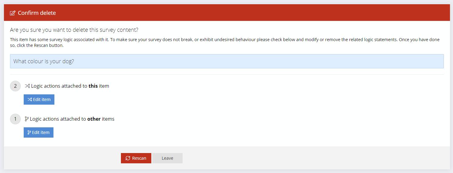 Scan Survey Logic